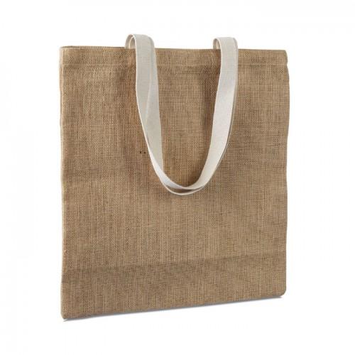 Jute shopping bag               in