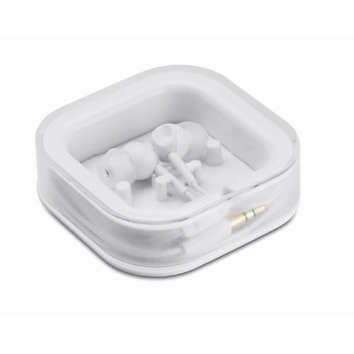 Ear plug with silicone          in white