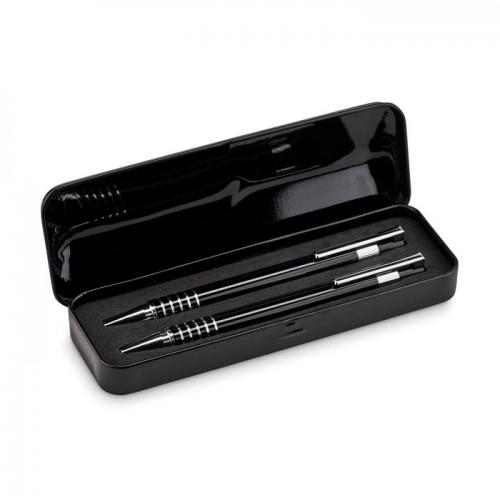 Ball pen set in metal box