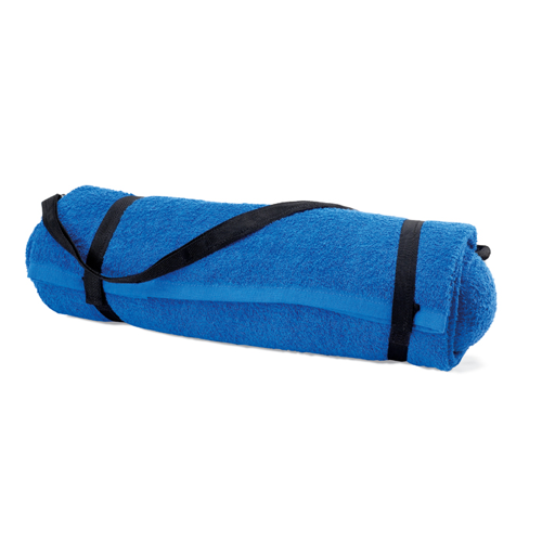Beach towel with pillow in royal-blue