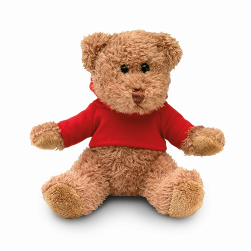 Teddy Bear Plus With T-Shirt in red