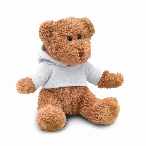 Teddy Bear Plus With T-Shirt in white