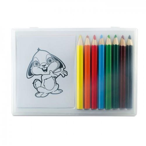 Wooden pencil colouring set