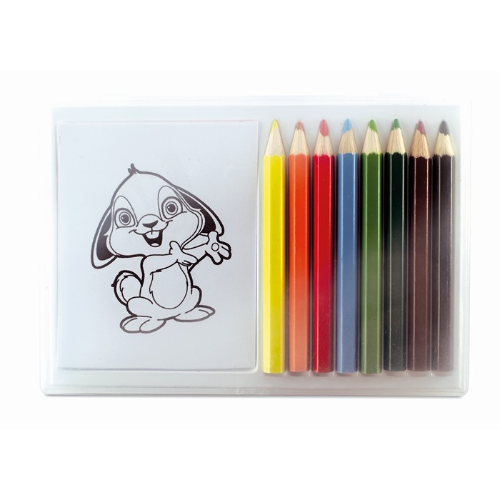 Wooden pencil colouring set in multicolour