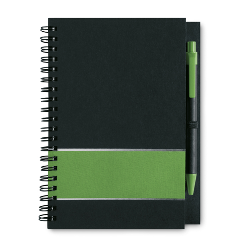 Notebook Lined Paper in green