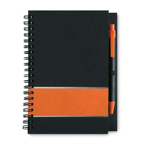 Notebook Lined Paper in orange