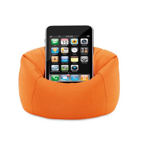 Puffy Smartphone Holder in orange