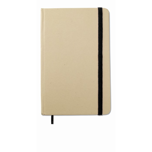Recycled material notebook in black