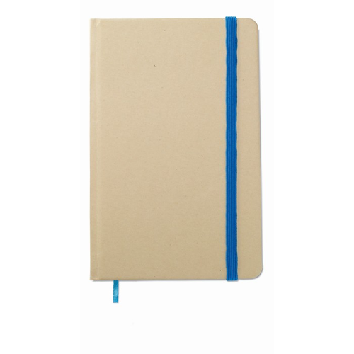 Recycled material notebook in blue