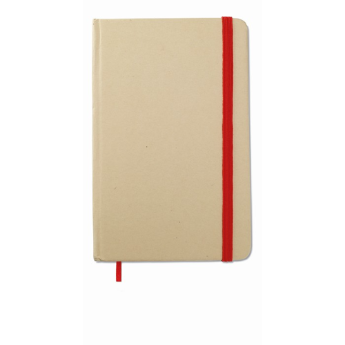 Recycled material notebook in red