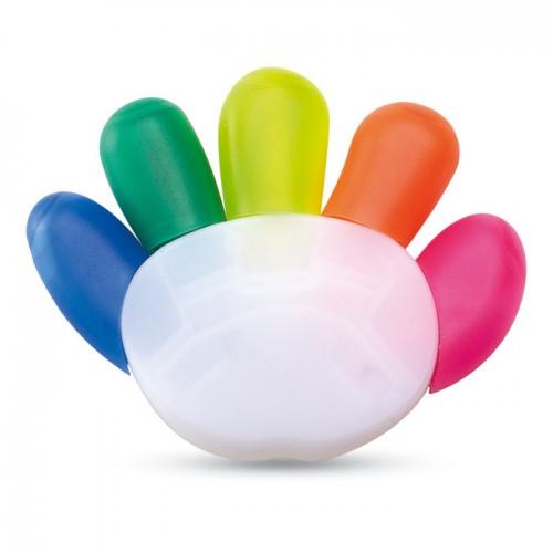 5 colour highlighter in multicolour