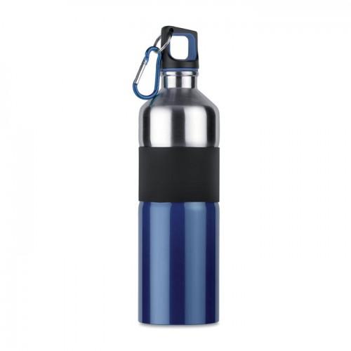Bicolour drinking bottle        in blue