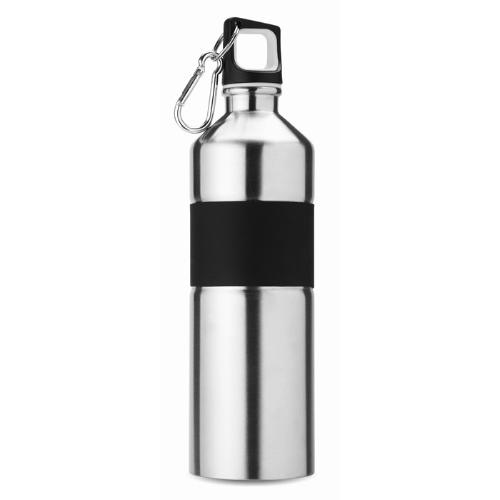 Bicolour drinking bottle        in matt-silver