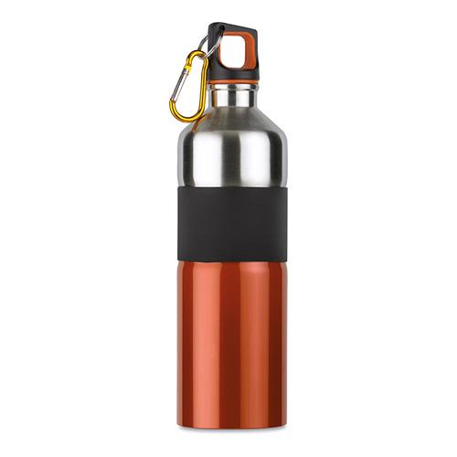 Bicolour drinking bottle        in orange
