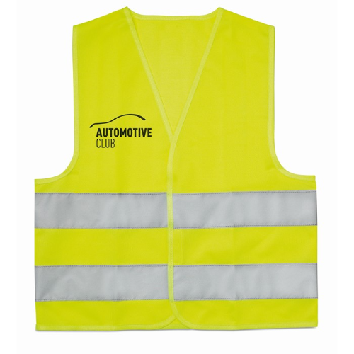 Children high visibility vest in yellow