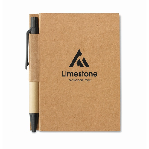 Memo note w/ mini recycled pen in lime