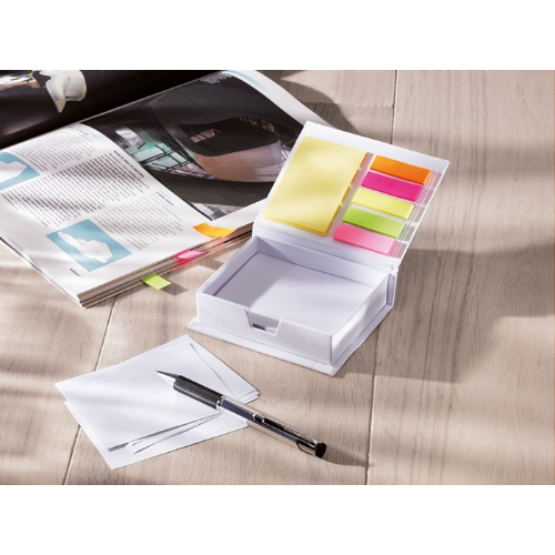 Memopad and sticky notes        in white
