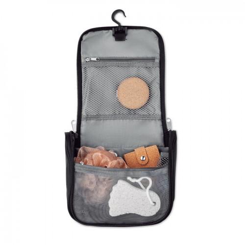 Cosmetic hanging bag in black