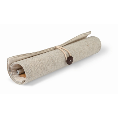 Stationary set in cotton pouch  in beige