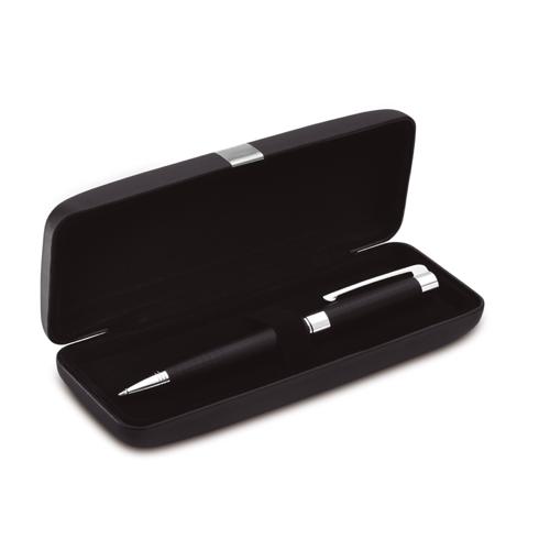 Metal Twist Ball Pen In Box in black