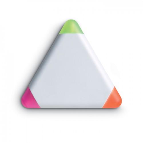 Triangular highlighter in white