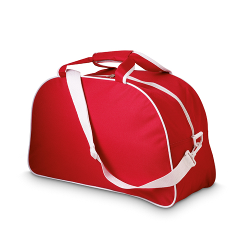 600D Polyester Sport Bag in red