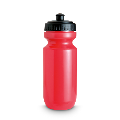 Plastic Drinking Bottle in transparent-red