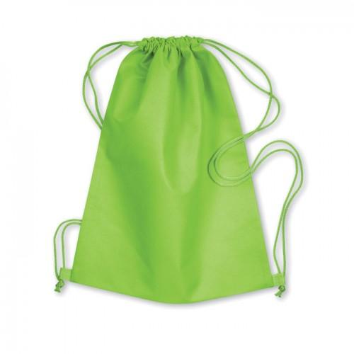 Drawstring bag in lime