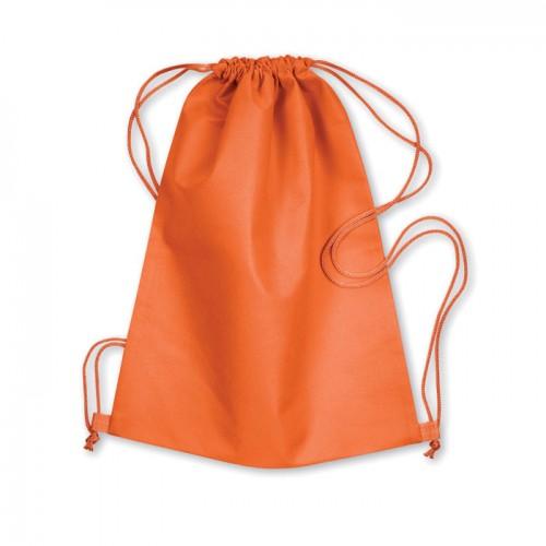 Drawstring bag in orange