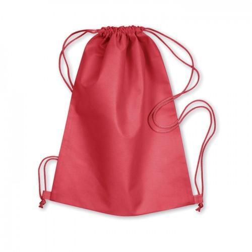 Drawstring bag in red