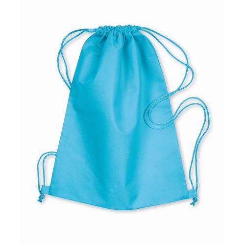 Drawstring bag in turquoise