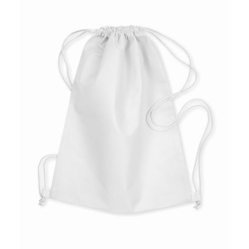 Drawstring bag in white