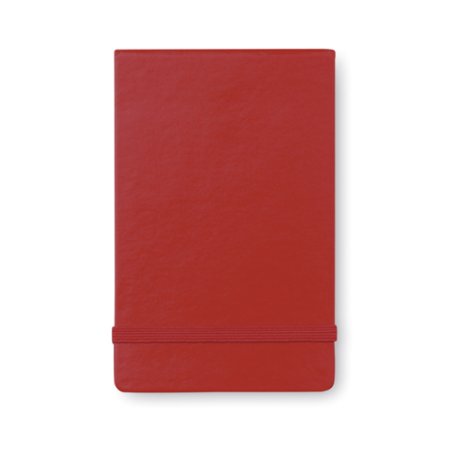 Vertical format notebook in red
