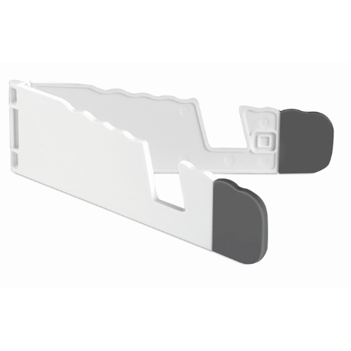 Tablet and smartphone holder in white