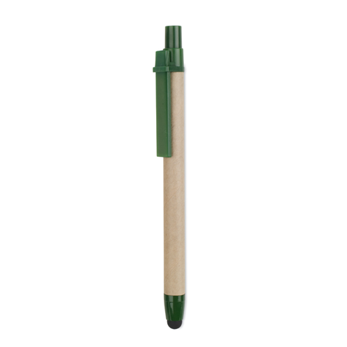 Recycled carton touch pen in green