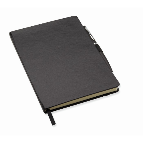 A5 notebook with pen in black