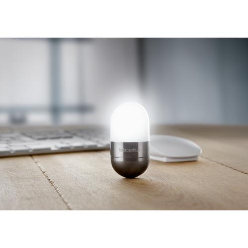 Desk light in stone-grey