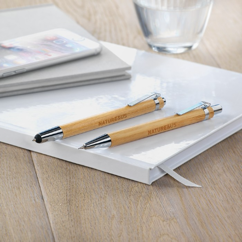 Bamboo pen and pencil set       in