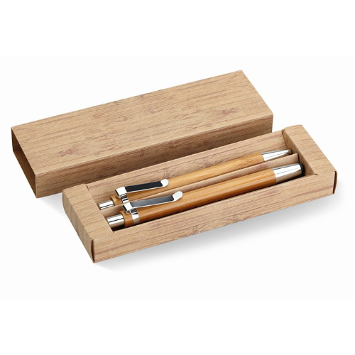 Bamboo pen and pencil set       in wood