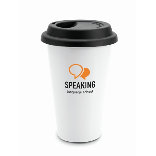 Double wall travel cup          in