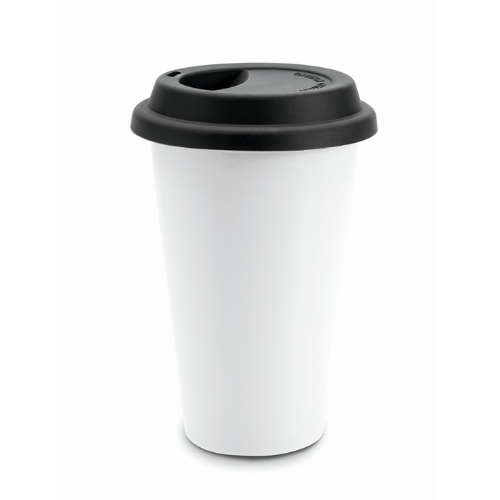 Double wall travel cup          in black