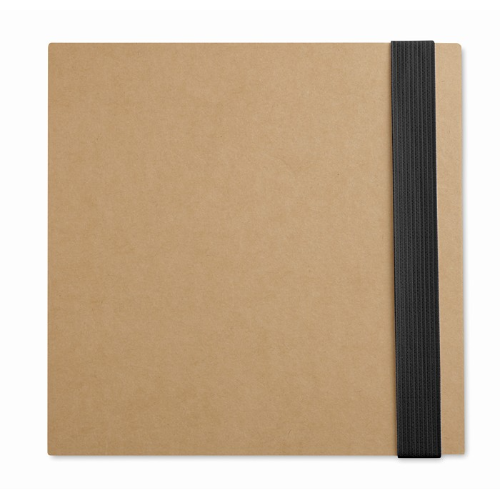 Notebook w/ sticky notes & pen in white