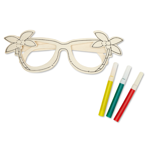 Wooden Glasses Painting Set in wood