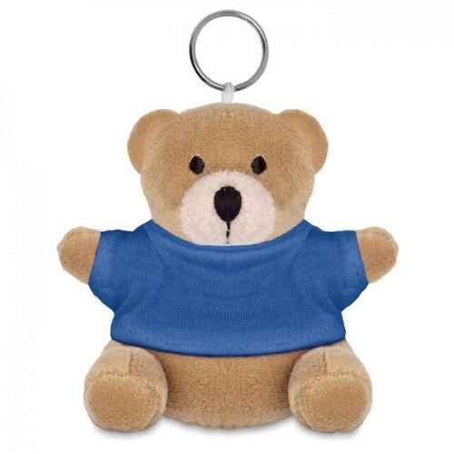 Teddy bear key ring in white