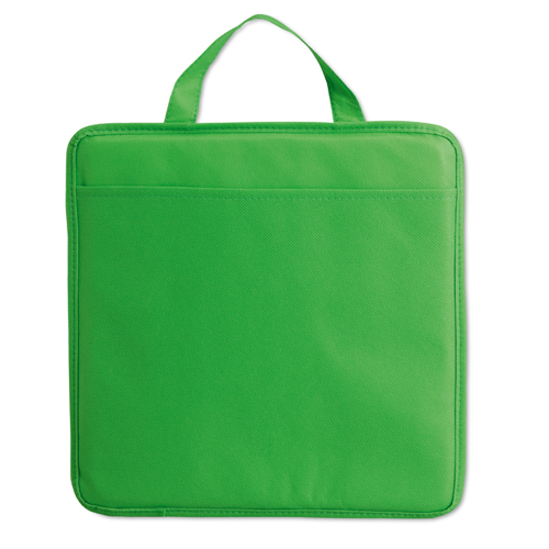 Non woven stadium cushion in green