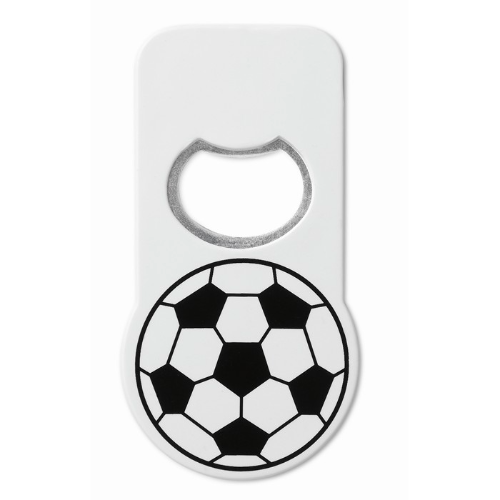 Football opener with magnet in white