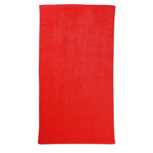 Beach towel in red