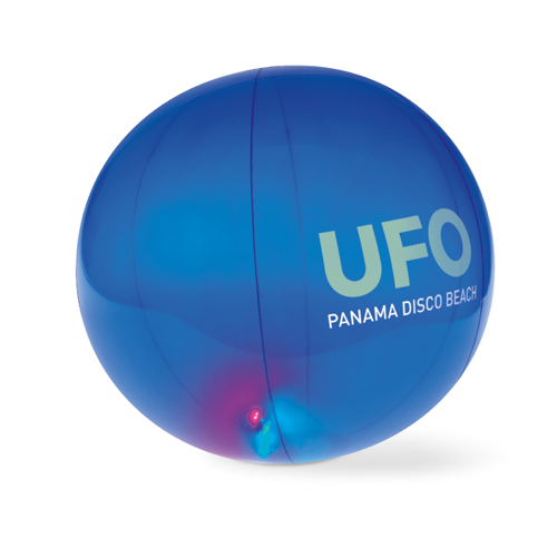 Inflatable Beachball W Light in transparent-blue