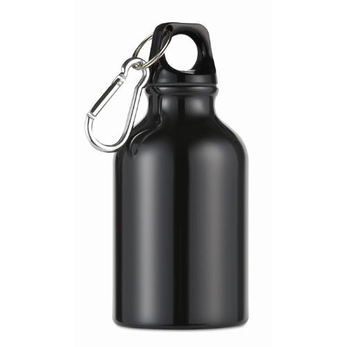 300ml aluminium bottle          in black