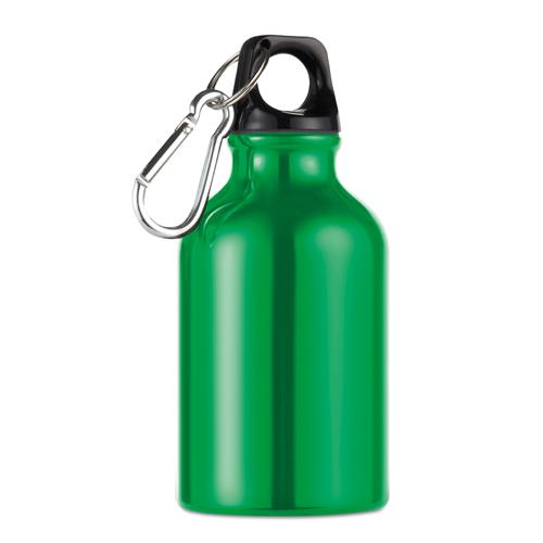 300ml aluminium bottle          in green